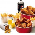 DEAL: KFC – Double Bucket for £15.99 (6 pcs Chicken, 6 Mini Fillets/8 Hot Wings, Popcorn Chicken, 4 Fries, 2 Large Sides, 1.5L Drink)